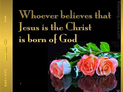 1 John 5:3 Born Of God (gold)